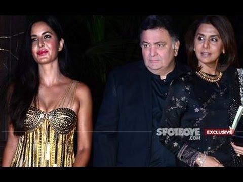 Katrina Kaif Shares Icy Vibes With Ranbir's Parents Rishi & Neetu at Manish Malhotra's Birthday