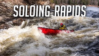 Solo Whitewater Trip in my Wild Backyard - Portaging, Class Threes & Natural Springs