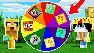 ¡LA RULETA DE LOS LUCKY BLOCKS EN MINECRAFT! 🎯❓📦  DESAFÍO DE LUCKY BLOCK NOOB VS PRO