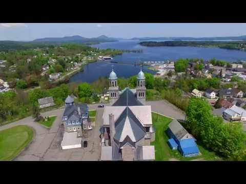 Newport VT on Lake Memphremagog - 4K HD Aerial Tour - Green Mountain Drone