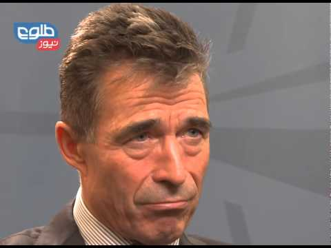 TOLOnews 05 September 2014 Exclusive Interview Anders Fogh Rasmussen / FARSI