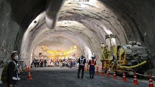 リニア中央新幹線のトンネル、岐阜で初公開 JR東海