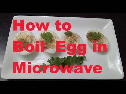 How to Boil Egg in Microwave in hindi / Easy - safe Egg Boiling in microwave  - monikazz kitchen