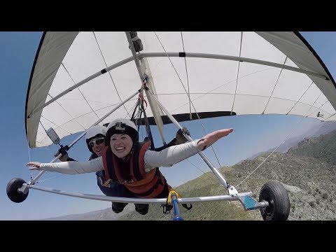 First Time Hang Gliding - San Fernando Valley | PEOPLE ARE AWESOME 2017