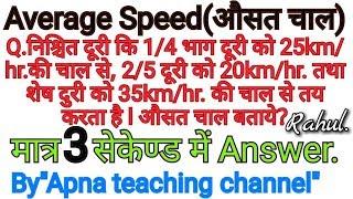 Average Speed tricks in hindi, by Apna teaching channel, By Rahul Sir