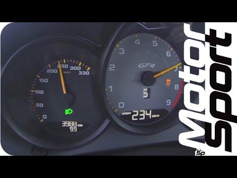 0-240 km/h : Porsche Cayman GT4 (Motorsport)