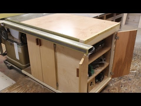 Finishing the table saw storage cabinet by Jon Peters - YouTube