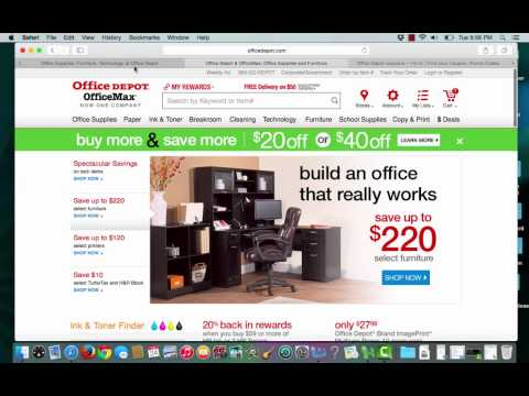 Office Depot Coupons verification by I'm in!