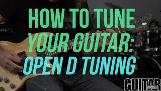 How to Tune Your Guitar to Open D Tuning - Guitar Basics