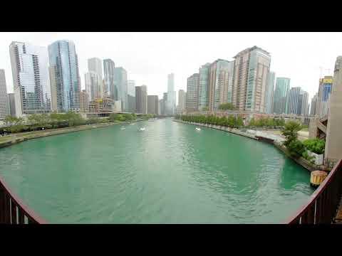 VR 360 CHICAGO RIVER WALK 4K