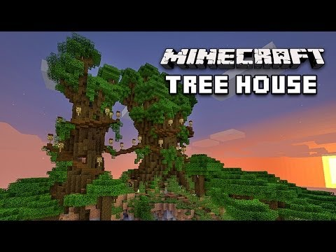 Minecraft: Awesome Treehouse Village Tour (Building Design Ideas