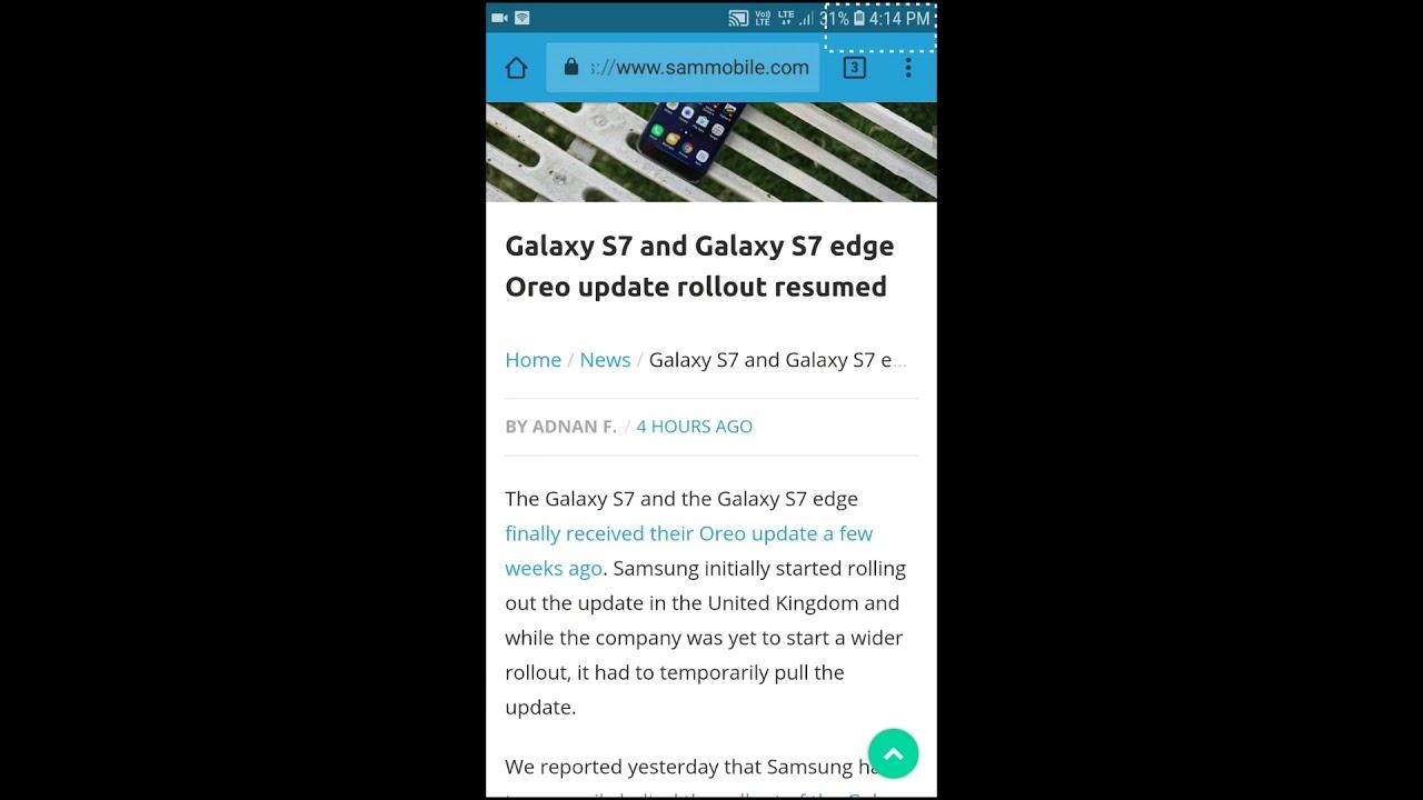 Samsung galaxy S7 edge oreo restarting bug fix