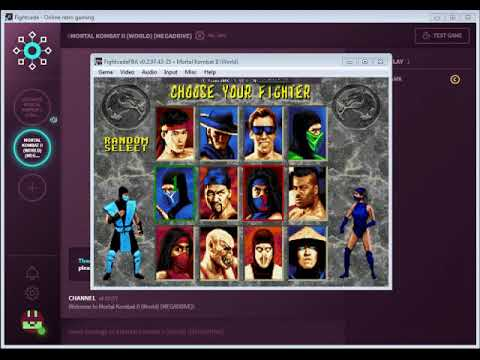 FightCade 2 Mortal Kombat 2 (Sega) online matches