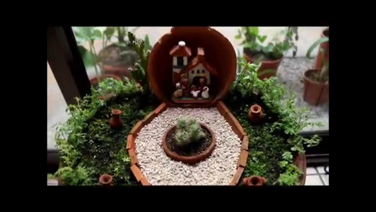 Costa rica portal de arcilla cocida y pintada a mano en for Jardines en miniatura