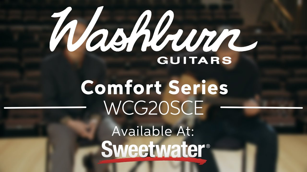 washburn comfort series wcg20sce acoustic electric guitar demo by sweetwater youtube. Black Bedroom Furniture Sets. Home Design Ideas