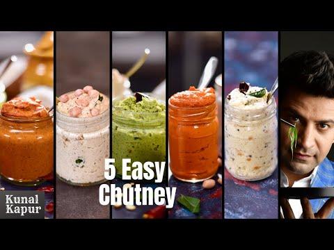 5 Easy & Quick Chutney Recipes for Idli, Dosa & Vada | South Indian Chutney Recipes | Kunal Kapur