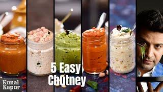 5 Easy &amp Quick Chutney Recipes for Idli, Dosa &amp Vada  South Indian Chutney Recipes  Kunal Kapur