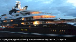 SERENE Mega Yacht at Dusk in Seattle on 8-23-13 HD