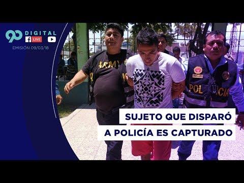 90 Digital (09-03-2018): Cae sujeto que disparó a policía de civil en asalto de bus en Trujillo