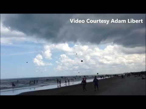 Gustnado Sends Umbrellas Flying In Cocoa Beach