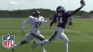 Stefon Diggs' Sweet One-Handed Grab at Vikings Training Camp | NFL