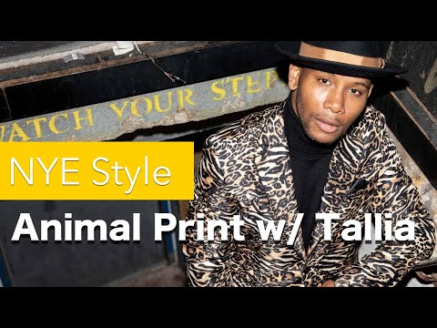 NYE Style: Men's Style Pro X Tallia - Animal Print Explained