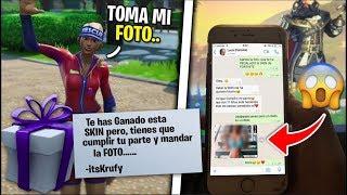 😍Le REGALO una SKIN EXCLUSIVA a mi NOVIA de FORTNITE y me MANDA FOTO HOT🔥 -itsKrufy