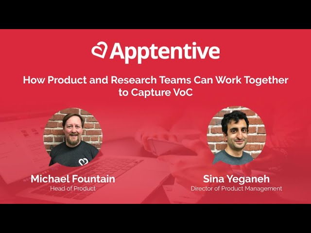 Post for video 'How Product and Research Teams Can Work Together to Capture VoC