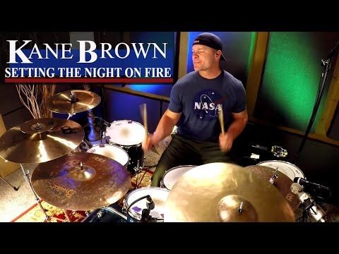 Kane Brown - Setting The Night On Fire Drum Cover (High Quality Audio) ⚫⚫⚫
