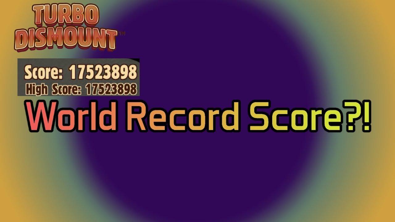 Turbo Dismount | World Record High Score? w ...