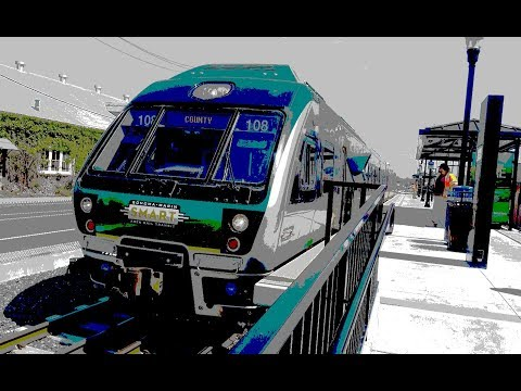 Smart Train Ride from Petaluma to San Rafeal April 2018 in 4K
