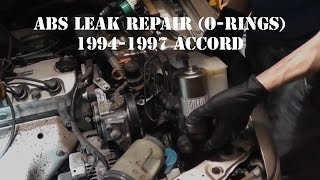 1994-1997 Accord ABS Leak (Accumulator And Pump O-Ring Replacement)