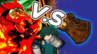 Infinity Gauntlet vs Espada de los Héroes Fénix En línea ( Roblox)