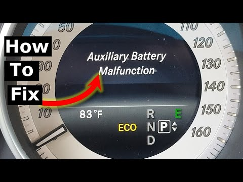 Auxiliary Battery Malfunction: Mercedes E Class W212 Replace