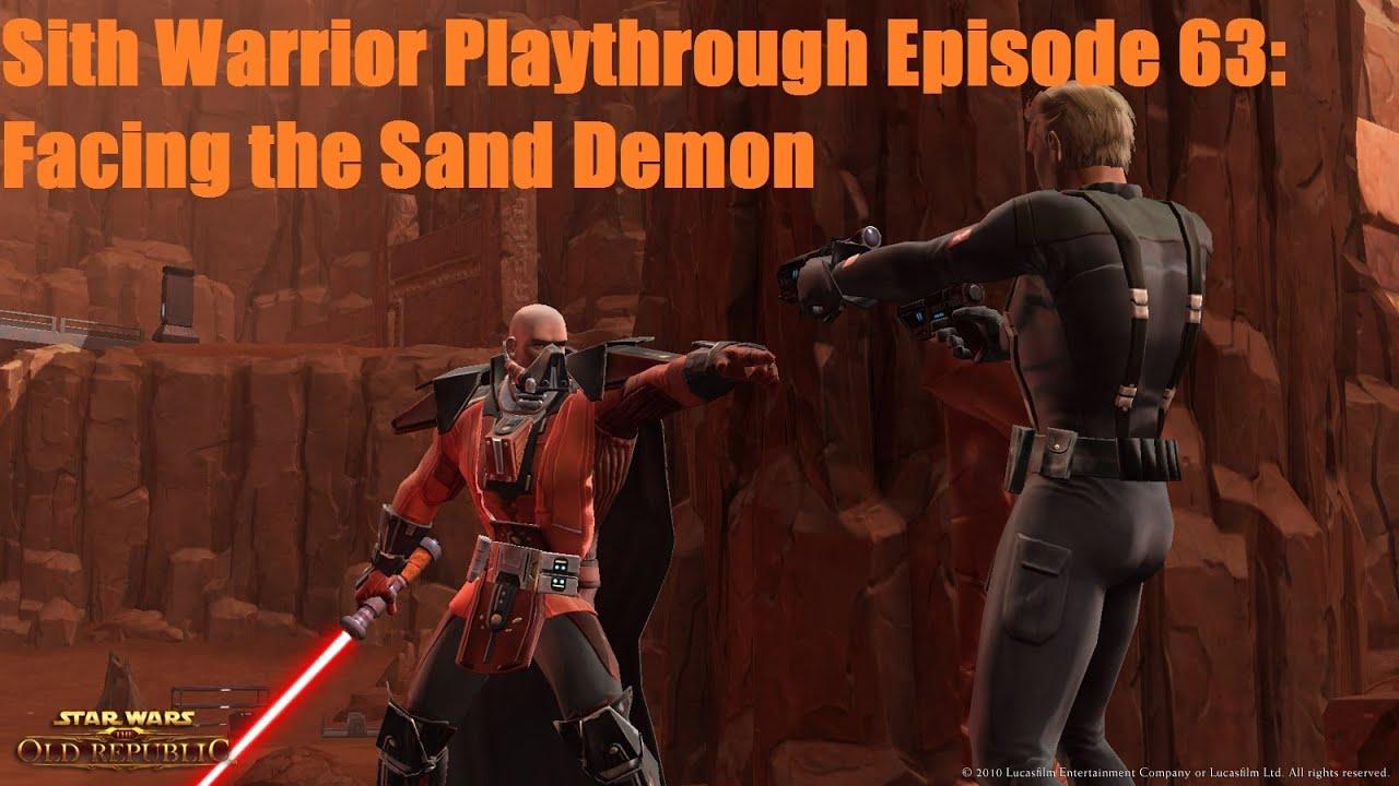 Swtor Sith Warrior Playthrough Season 1 Episode 63 Facing The