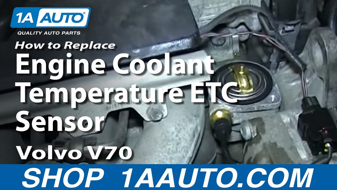 how to replace coolant temperature sensor 99 02 volvo v70 [ 1280 x 720 Pixel ]