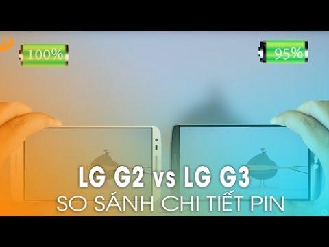 LG G3 và LG G2 – Đánh giá thời lượng sử dụng Pin trên
