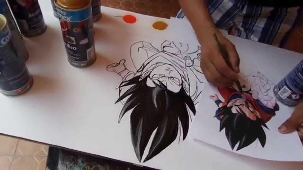 Dragon Ball Spray Painting