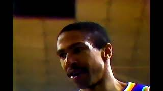 Lakers at PHX Suns, 1987 (Kareem's only 3 point FG in 20 seasons) (Chick w/ Mychal T at half)