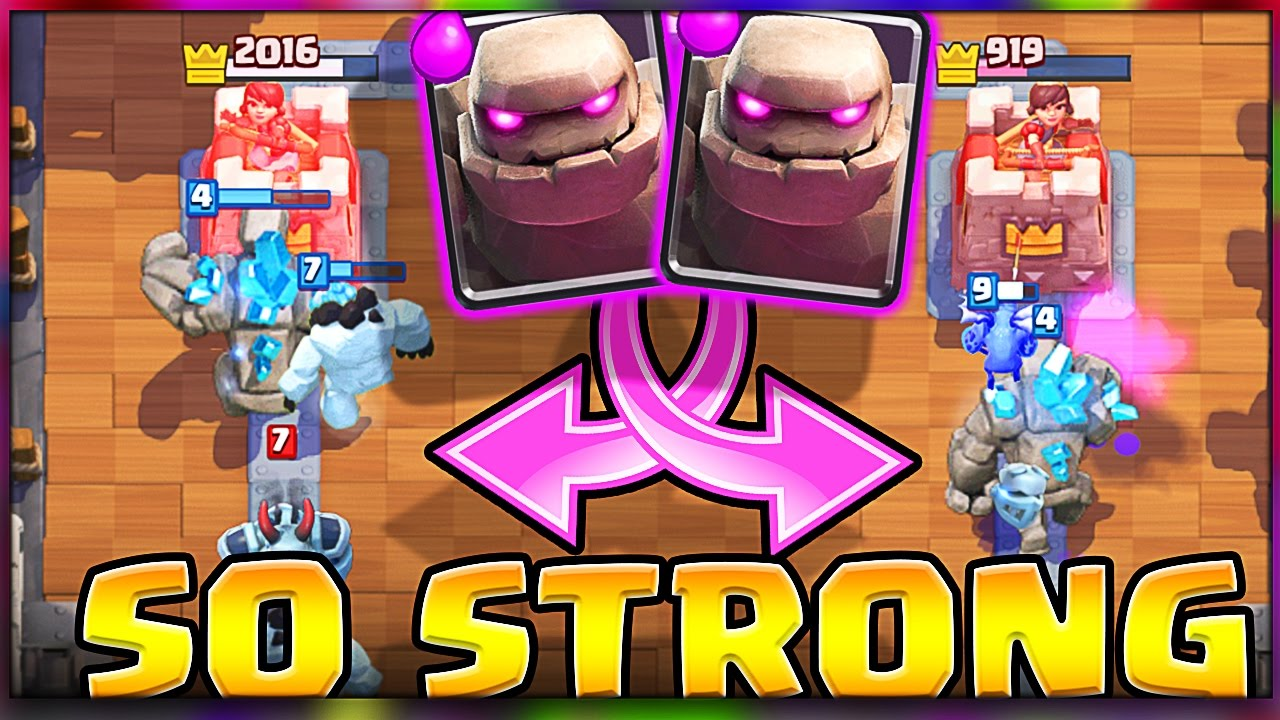 NEW DECK!  Clash Royale  GOLEM IS STRONG