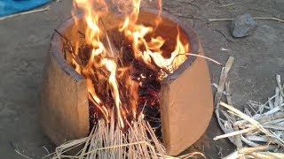 Portable Clay Stove| Mitti ka Chulha| Grandma's Style| primitive technology| My Village Food Secrets