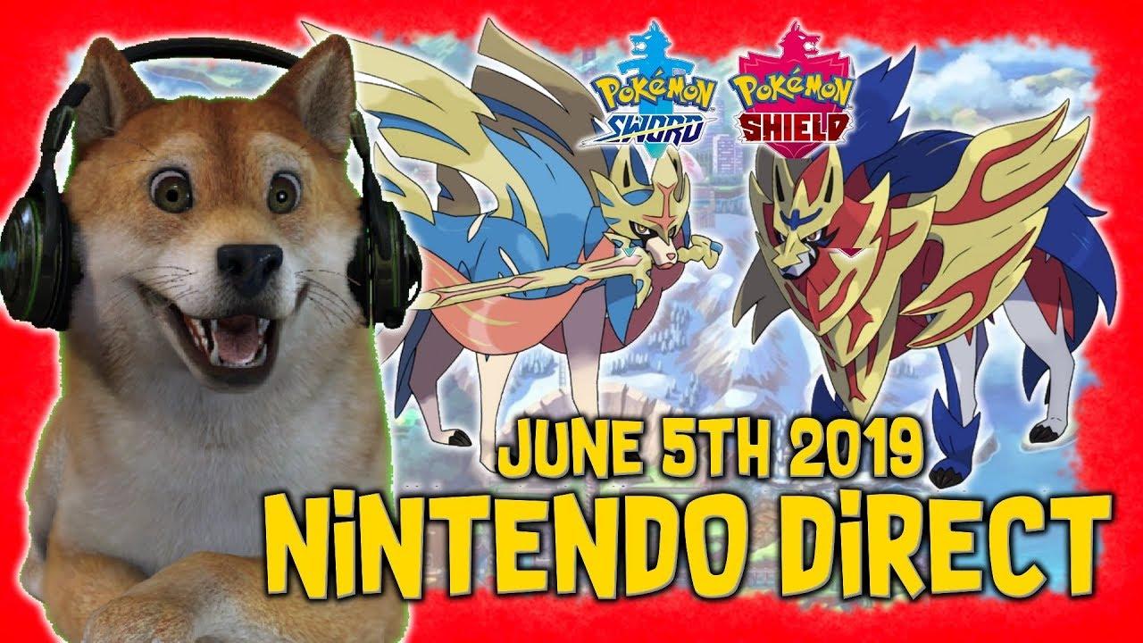 Pokemon Sword Shield Nintendo Direct June 5th 2019 Legendaries