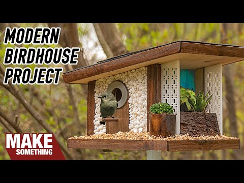 how-to-make-a-mid-century-modern-frank-lloyd-wright-birdhouse-|-woodworking-project