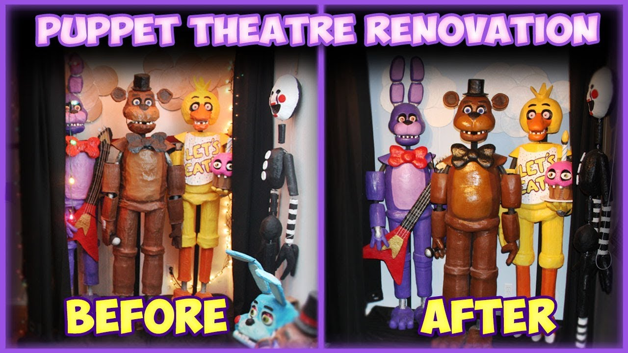 New Puppet Theatre! Five Years at Freddy's Birthday Show!