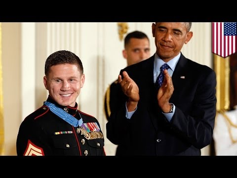 Medal of Honor awarded to former Marine Kyle Carpenter for taking grenade, saving comrade