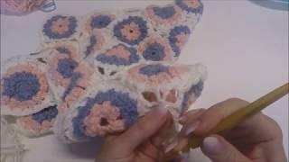 8 Goldfaden Мастер класс Плед для малыша Вязание крючком hd  How to crochet a baby blanket