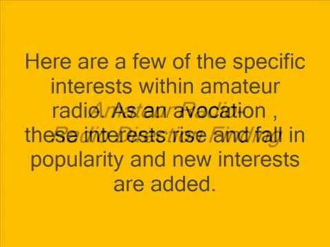 amateur radio interests within the avocation