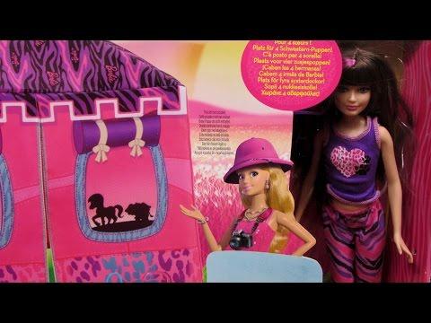 Safari Doll and Tent Playset - Barbie Sisters - Mattel - BDG23