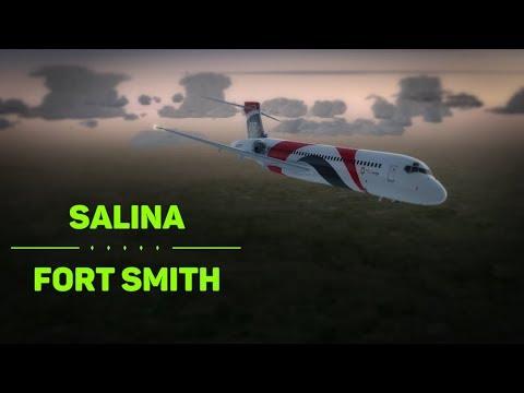 P3D v4.1 - Salina, KS (KSLN) to Fort Smith, AR (KFSM) in the TFDi 717
