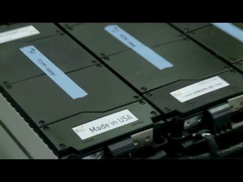 Lithium auto battery plant revs up